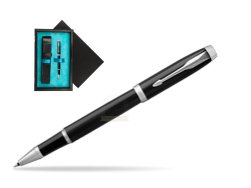 Parker IM Black CT Rollerball Pen  single wooden box  Black Single Turquoise