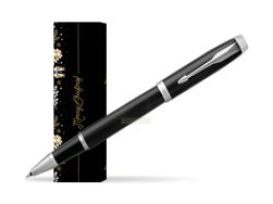 Parker IM Black CT Rollerball Pen in cover Golden Tree