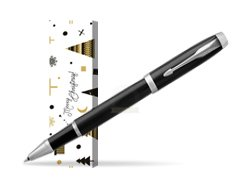 Parker IM Black CT Rollerball Pen in cover Snow Gift