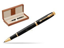 Parker IM Black GT Rollerball Pen  in classic box brown
