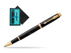 Parker IM Black GT Rollerball Pen  single wooden box  Black Single Turquoise