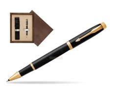 Parker IM Black GT Rollerball Pen  single wooden box  Wenge Single Ecru
