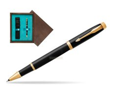 Parker IM Black GT Rollerball Pen  single wooden box  Wenge Single Turquoise