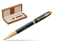Parker IM Premium Black GT Rollerball Pen  in classic box brown