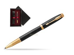 Parker IM Premium Black GT Rollerball Pen  single wooden box  Black Single Maroon