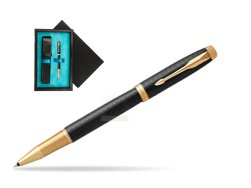 Parker IM Premium Black GT Rollerball Pen  single wooden box  Black Single Turquoise