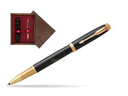Parker IM Premium Black GT Rollerball Pen  single wooden box  Wenge Single Maroon