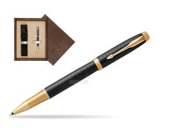 Parker IM Premium Black GT Rollerball Pen  single wooden box  Wenge Single Ecru