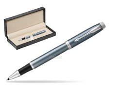 Parker IM Light Blue Grey CT Rollerball Pen  in classic box  pure black