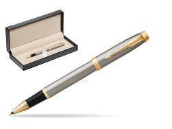Parker IM Brushed Metal GT Rollerball Pen  in classic box  black