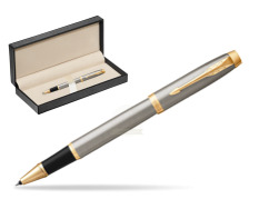 Parker IM Brushed Metal GT Rollerball Pen  in classic box  pure black