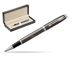 Parker IM Dark Espresso Lacque CT Rollerball Pen  in classic box  black