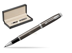 Parker IM Dark Espresso Lacque CT Rollerball Pen  in classic box  pure black