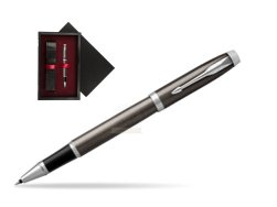 Parker IM Dark Espresso Lacque CT Rollerball Pen  single wooden box  Black Single Maroon