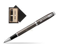 Parker IM Dark Espresso Lacque CT Rollerball Pen  single wooden box  Wenge Single Ecru