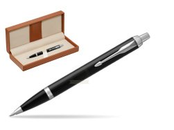 Parker IM Black CT Ballpoint Pen  in classic box brown