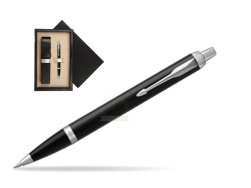 Parker IM Black CT Ballpoint Pen  single wooden box  Wenge Single Ecru
