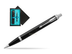 Parker IM Black CT Ballpoint Pen  single wooden box  Black Single Turquoise