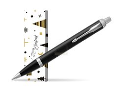 Parker IM Black CT Ballpoint Pen in cover Snow Gift