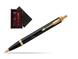Parker IM Black GT Ballpoint Pen  single wooden box  Black Single Maroon
