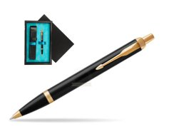 Parker IM Black GT Ballpoint Pen  single wooden box  Black Single Turquoise