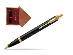 Parker IM Black GT Ballpoint Pen  single wooden box Mahogany Single Maroon