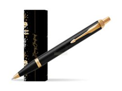 Parker IM Black GT Ballpoint Pen in cover Golden Tree