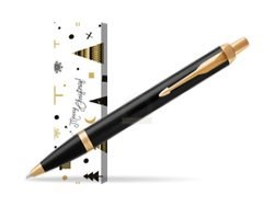Parker IM Black GT Ballpoint Pen in cover Snow Gift