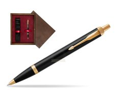 Parker IM Black GT Ballpoint Pen  single wooden box  Wenge Single Maroon