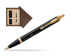 Parker IM Black GT Ballpoint Pen  single wooden box  Wenge Single Ecru