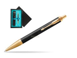 Parker IM Premium Black GT Ballpoint Pen  single wooden box  Black Single Turquoise