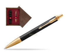 Parker IM Premium Black GT Ballpoint Pen  single wooden box  Wenge Single Maroon