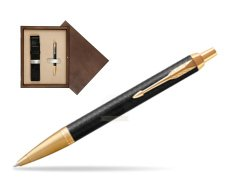 Parker IM Premium Black GT Ballpoint Pen  single wooden box  Wenge Single Ecru