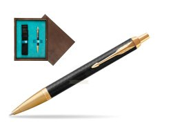 Parker IM Premium Black GT Ballpoint Pen  single wooden box  Wenge Single Turquoise