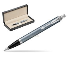 Parker IM Light Blue Grey CT Ballpoint Pen  in classic box  black