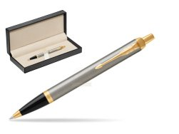 Parker IM Brushed Metal GT Ballpoint Pen  in classic box  pure black