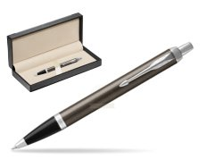Parker IM Dark Espresso Lacque CT Ballpoint Pen  in classic box  black