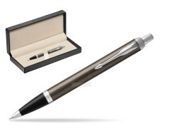 Parker IM Dark Espresso Lacque CT Ballpoint Pen  in classic box  pure black