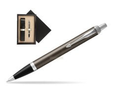 Parker IM Dark Espresso Lacque CT Ballpoint Pen  single wooden box  Wenge Single Ecru