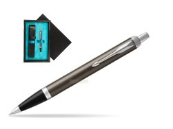 Parker IM Dark Espresso Lacque CT Ballpoint Pen  single wooden box  Black Single Turquoise