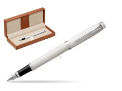 Parker IM White CT Fountain Pen  in classic box brown