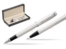 Parker IM White CT 2016 Fountain Pen + Ballpoint Pen in a Gift Box  in classic box  pure black