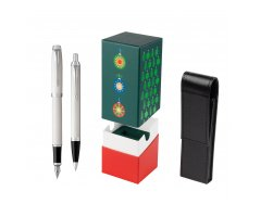 Parker IM White CT 2016 Fountain Pen + Ballpoint Pen in a Gift Box  StandUP Christmas Tree