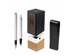 Parker IM White CT 2016 Fountain Pen + Ballpoint Pen in a Gift Box  StandUP For Men Only