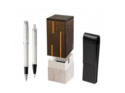 Parker IM White CT 2016 Fountain Pen + Ballpoint Pen in a Gift Box in gift box StandUP Matrix