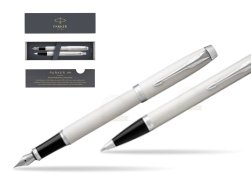 Parker IM White CT 2016 Fountain Pen + Ballpoint Pen in a Gift Box