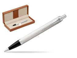 Parker IM White CT Ballpoint Pen  in classic box brown