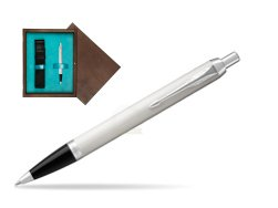 Parker IM White CT Ballpoint Pen  single wooden box  Wenge Single Turquoise
