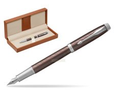 Parker IM Premium Brown CT Fountain Pen  in classic box brown