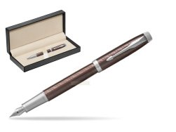 Parker IM Premium Brown CT Fountain Pen  in classic box  pure black